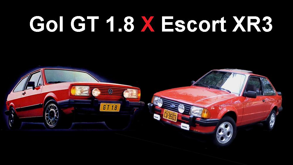 Gol GT 1.8 X Escort XR3