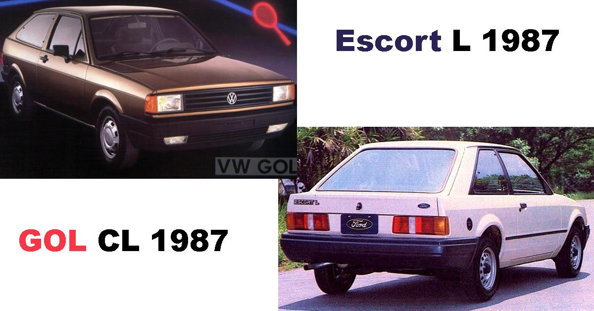 Gol CL 1987 X Escort L 1987