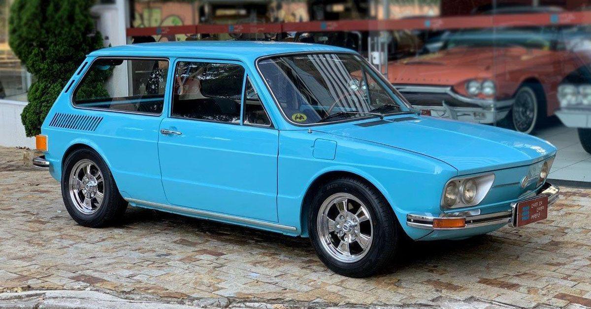 Volkswagen Brasília 1974 com rodas gauchas